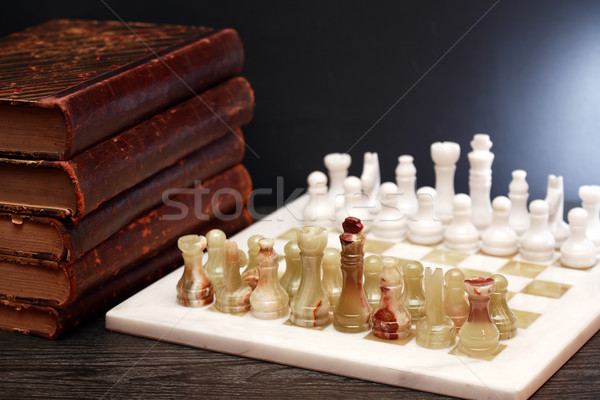 Chess And Books Stock photo © cosma