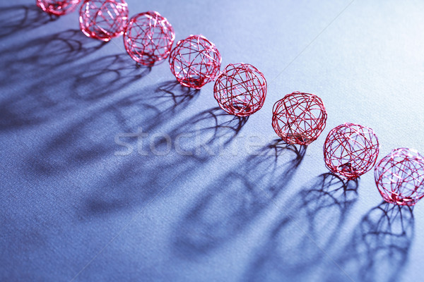 Tel ayarlamak kırmızı gölge Stok fotoğraf © cosma