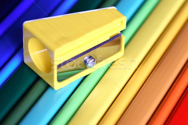 Farbują temperówka żółty kolor ołówki Zdjęcia stock © cosma