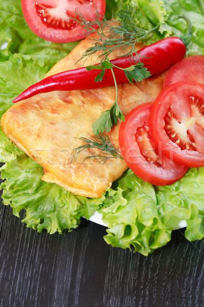 Tortilla legumes mexicano verde salada Foto stock © cosma
