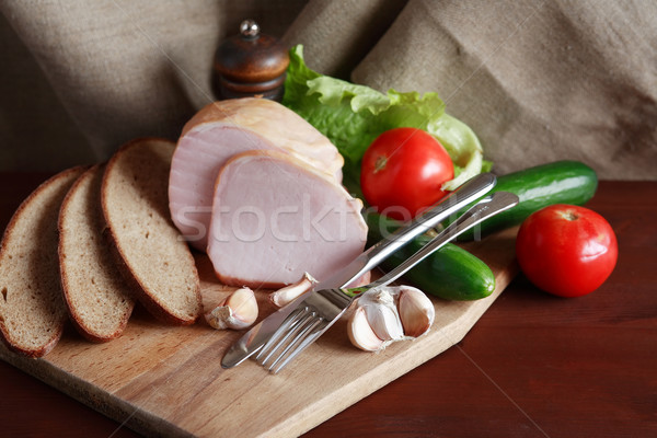 Ham And Vegetables Stock photo © cosma