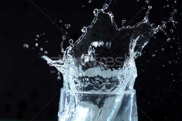 Csobbanás sötét üveg csobbanás víz absztrakt Stock fotó © cosma