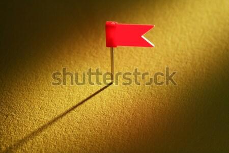 Red Flag Thumbtack Stock photo © cosma