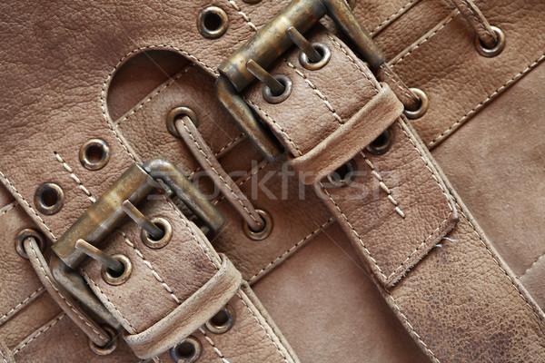 革 ブラウン ファッション ファブリック 袋 服 ストックフォト © cosma