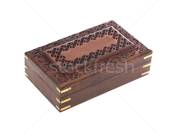 Wooden Casket On White Stock photo © cosma