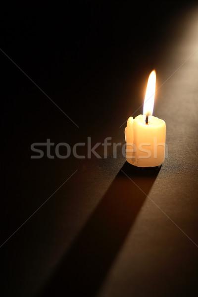Candle On Dark Stock photo © cosma