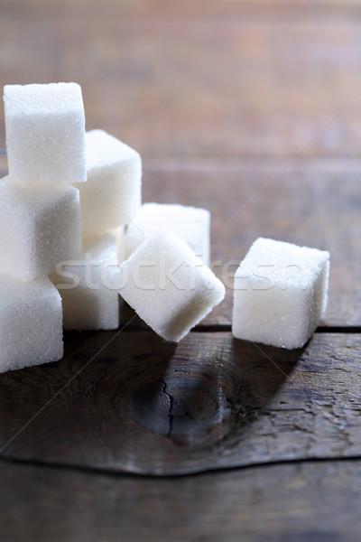 Azúcar madera terrones de azúcar luz Foto stock © cosma
