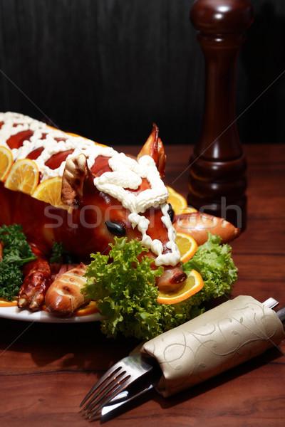 Roast Suckling Pig Stock photo © cosma