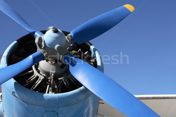 Old Propeller-Driven Airplane Stock photo © cosma