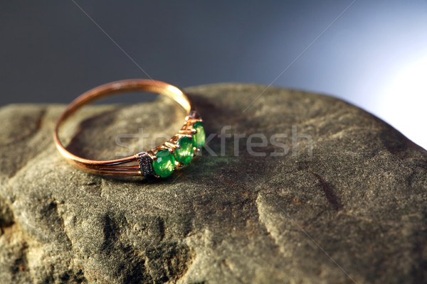 Gold And Emerald Stock photo © cosma