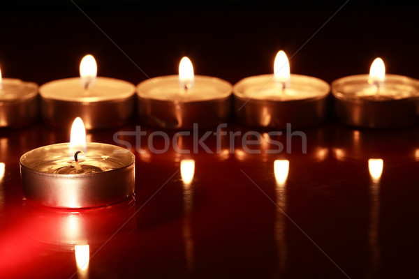Candles On Dark Stock photo © cosma