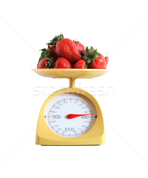 Strawberry Weighing Stock photo © cosma