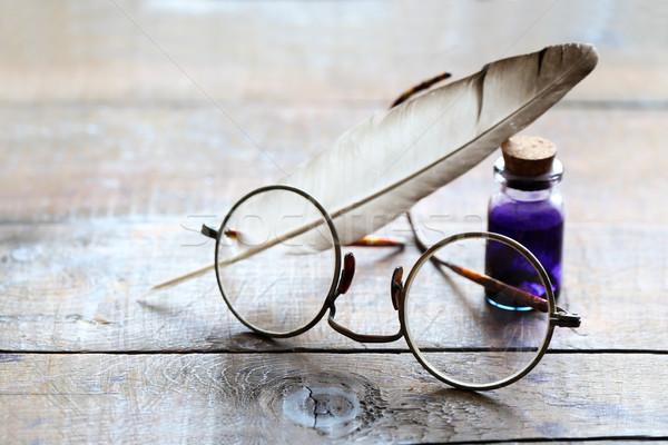 Vintage martwa natura sztuki starych okulary Zdjęcia stock © cosma