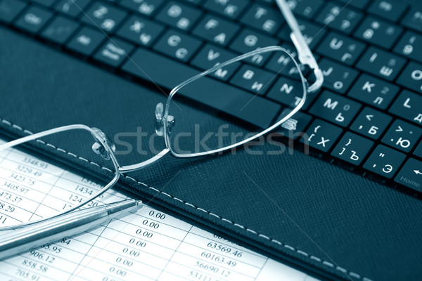 Spectacles On Laptop Stock photo © cosma