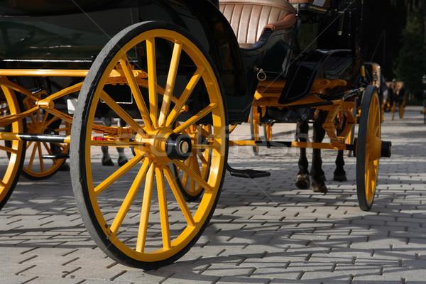 Carriage Yellow Wheel Stock photo © cosma