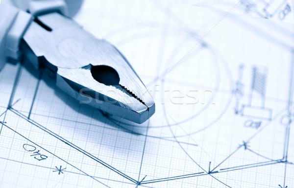 Industrial planejamento combinação gráfico papel Foto stock © cosma