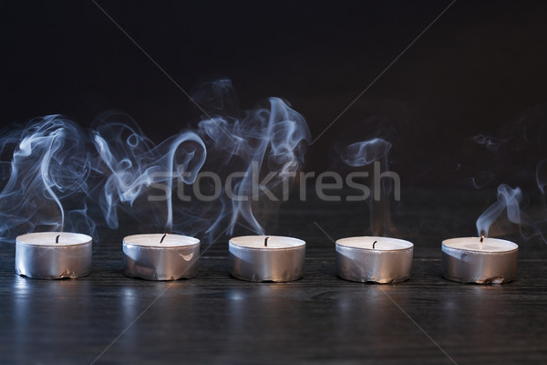 Extinguished Candles On Dark Stock photo © cosma