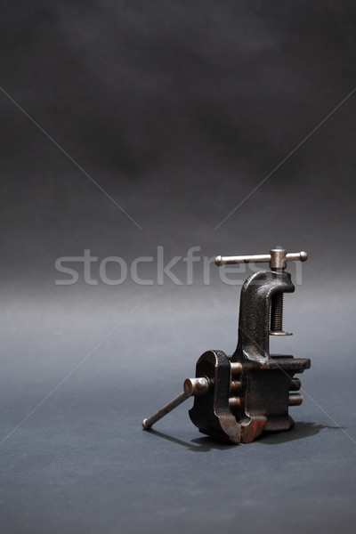 Old Vise On Dark Stock photo © cosma