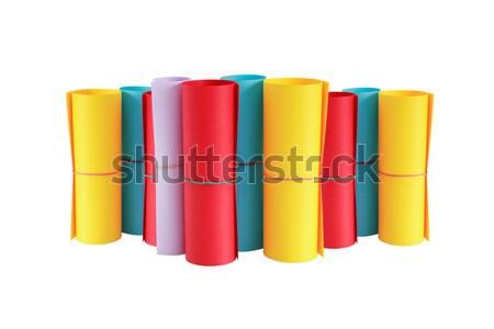 Colore carta set diversità piedi bianco Foto d'archivio © cosma