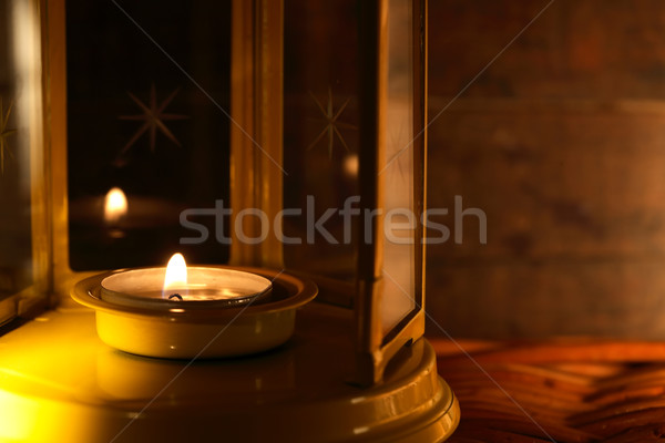 Lamp With Candle Stock photo © cosma