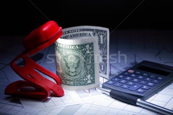Buchhaltung finanziellen ein Dollar stellt fest Stock foto © cosma