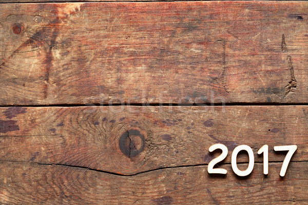 2017 Inscription On Wood Stock photo © cosma