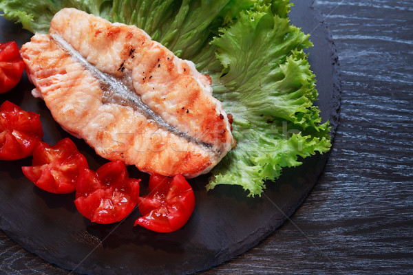 Grilled Fish And Vegetables Stock photo © cosma