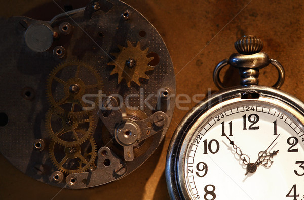Pocket Watch And Gears Stock photo © cosma