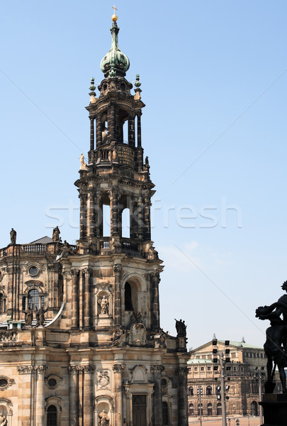 Gothic Belfry In Dresden Stock photo © cosma