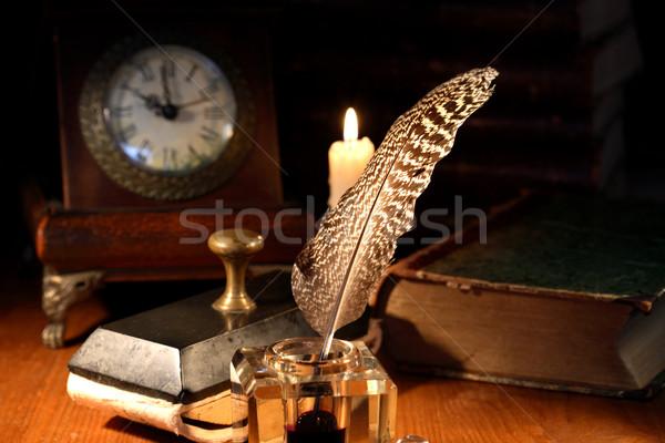 Foto stock: Criação · tempo · vintage · natureza · morta · velho · iluminação