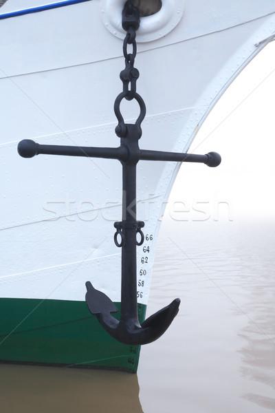 Statku kotwica żeglarstwo główny wiszący biały Zdjęcia stock © cosma