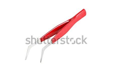 Tweezers On White Stock photo © cosma