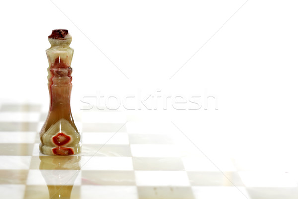 Chess King On White Stock photo © cosma