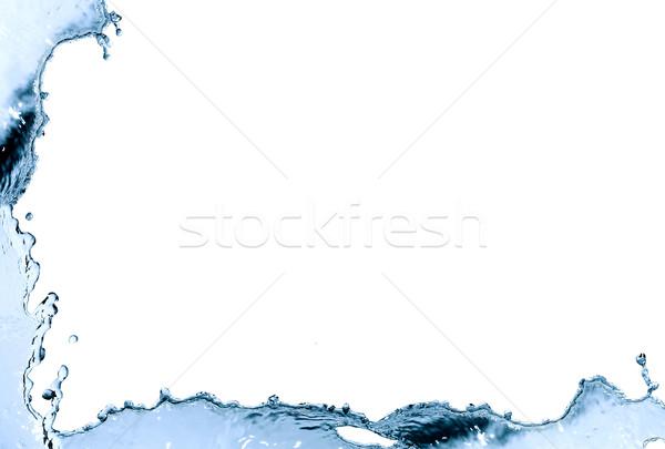 Víz keret keret kék csobbanás szép Stock fotó © cosma