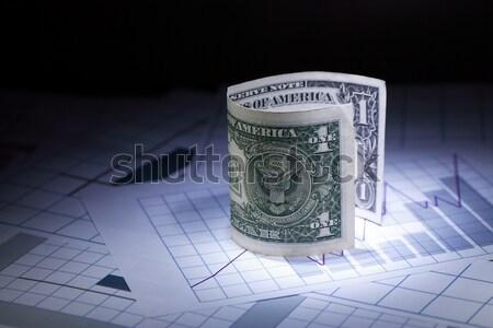 Financeiro escrituração um dólar nota Foto stock © cosma
