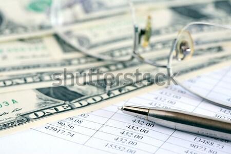 Finanziaria contabilità pen USA dollaro Foto d'archivio © cosma