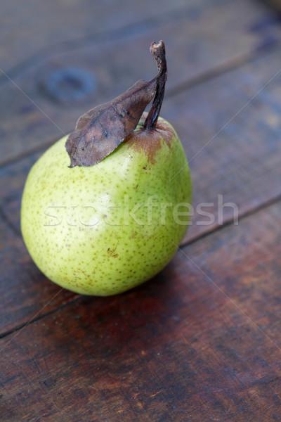 Pear On Wood Stock photo © cosma