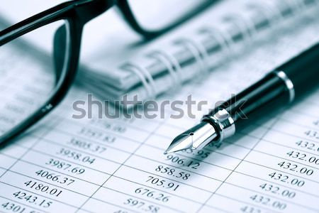 Caneta dígitos negócio caneta-tinteiro plástico cartões Foto stock © cosma