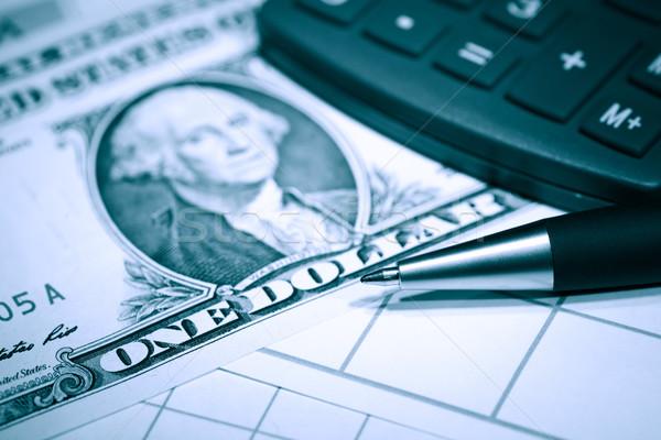 üzlet pénzügyi közelkép egy dollár jegyzetek Stock fotó © cosma