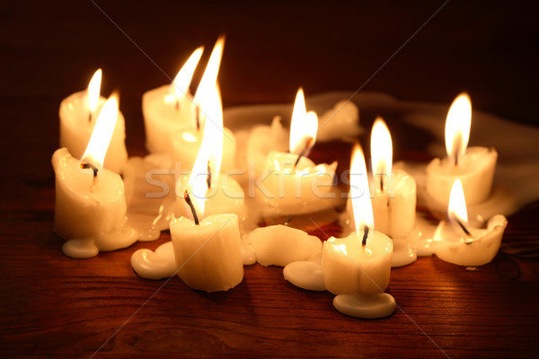 Candles On Wood Stock photo © cosma