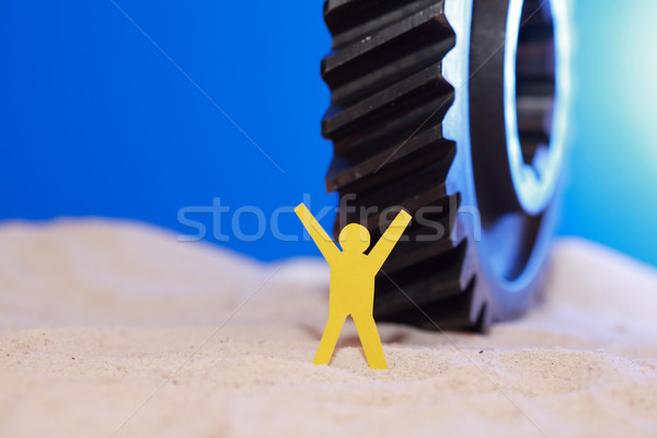 Man Against Gear Stock photo © cosma