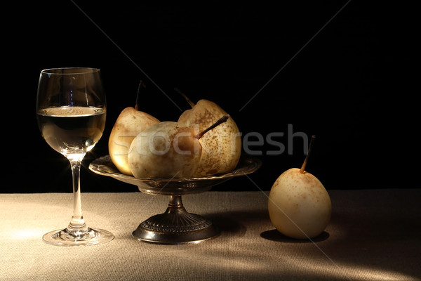 Wine And Pears Stock photo © cosma