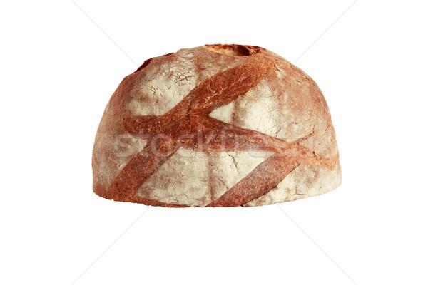 Rozs kenyér cipó izolált fehér vágási körvonal Stock fotó © cosma