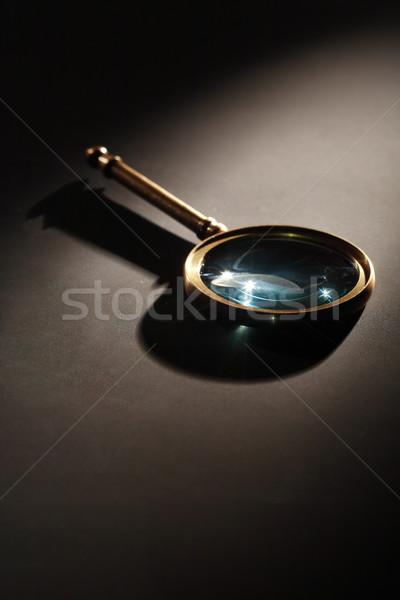 Nagyító sötét hosszú árnyék üzlet háttér Stock fotó © cosma