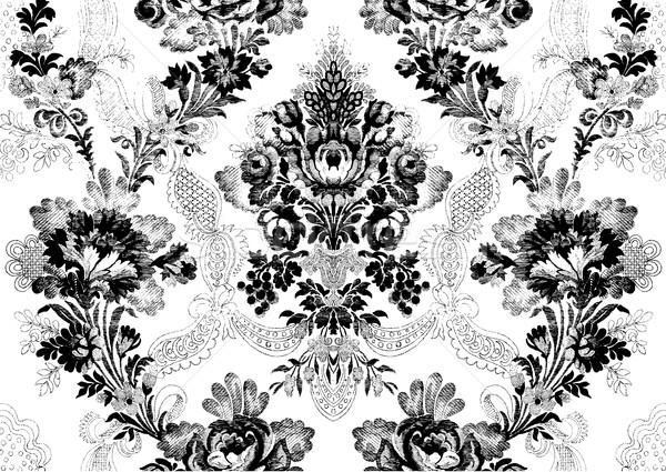 抽象的な ダマスク織 フローラル ヴィンテージ パターン ストックフォト © cosveta