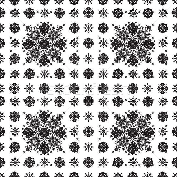 Abstract etnica senza soluzione di continuità floreale pattern design Foto d'archivio © cosveta
