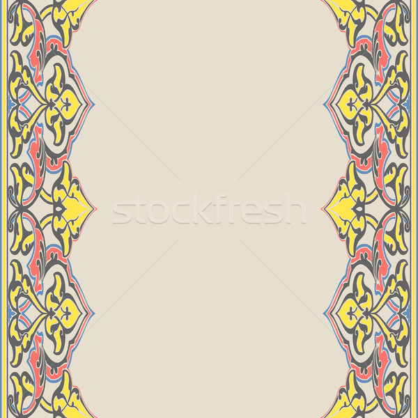 Vector sin costura frontera oriental estilo Foto stock © cosveta