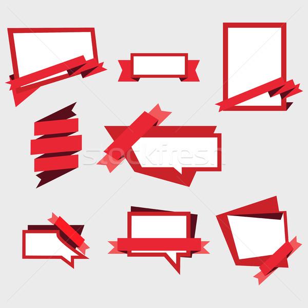 Vetor conjunto anúncio bandeira adesivos Foto stock © cosveta