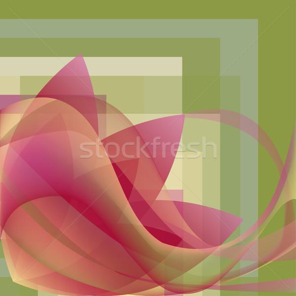 Renkli soyut çiçek dalgalar kare eğim Stok fotoğraf © cosveta