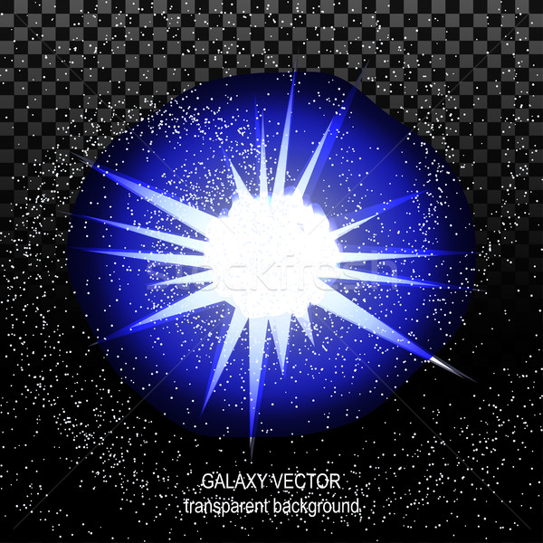 Star with rays white blue in space isolated and effect tunnel sp Stock photo © cosveta